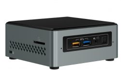 Intel NUC NUC6CAYSAJ 1.50GHz J3455 Black, Grey Mini PC